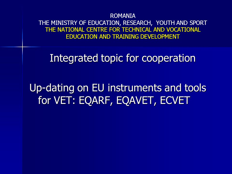 Integrated topic for cooperation