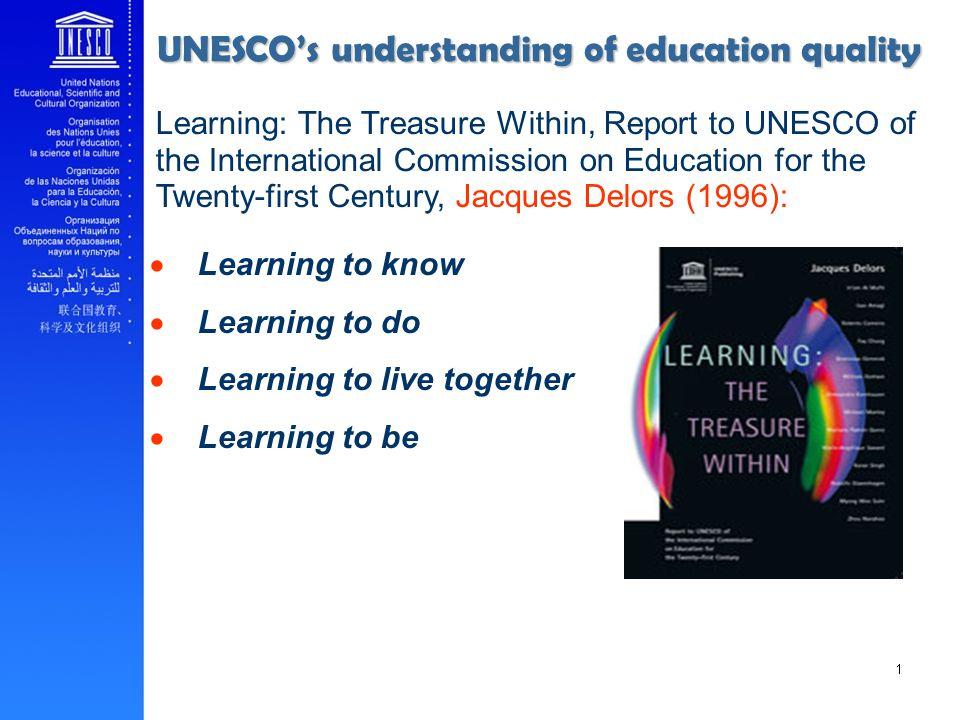 UNESCO's understanding of education quality