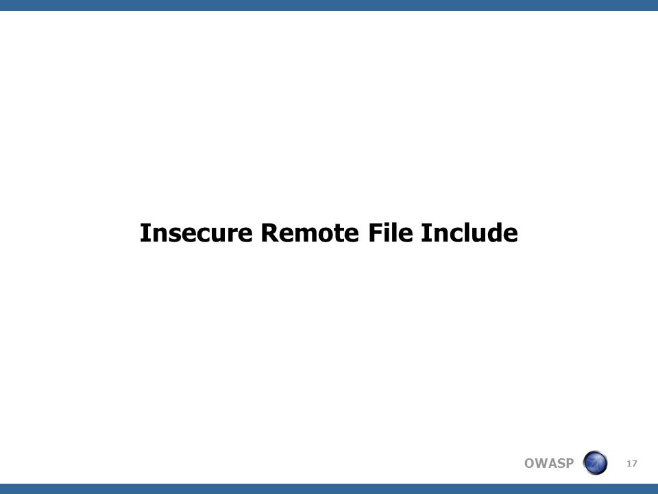 Insecure Remote File Include
