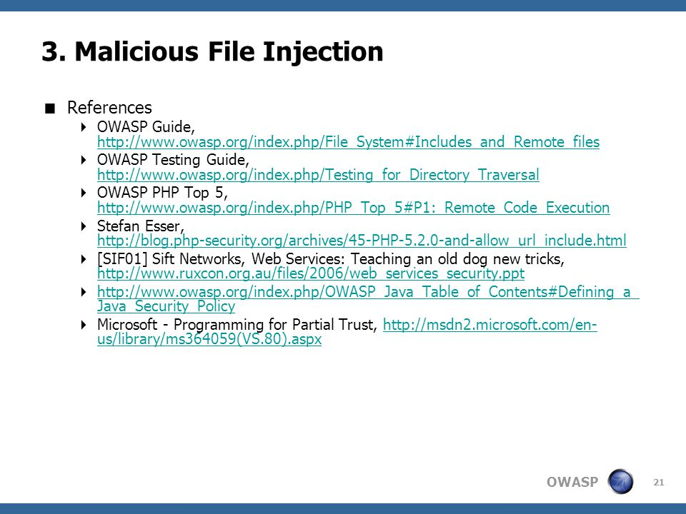 3. Malicious File Injection