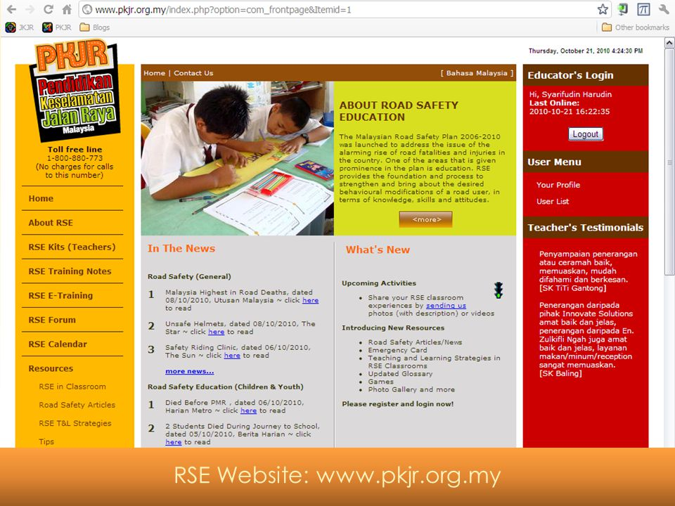RSE Website: www.pkjr.org.my