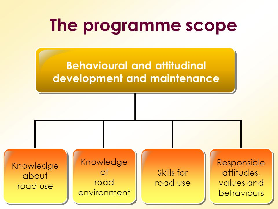 Behavioural and attitudinal development and maintenance