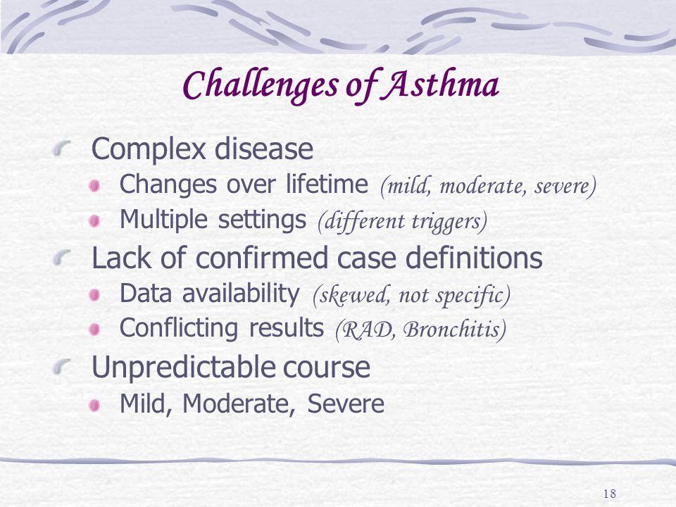 Challenges of Asthma Complex disease