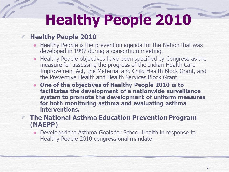 Healthy People 2010 Healthy People 2010