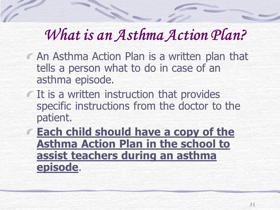 What is an Asthma Action Plan