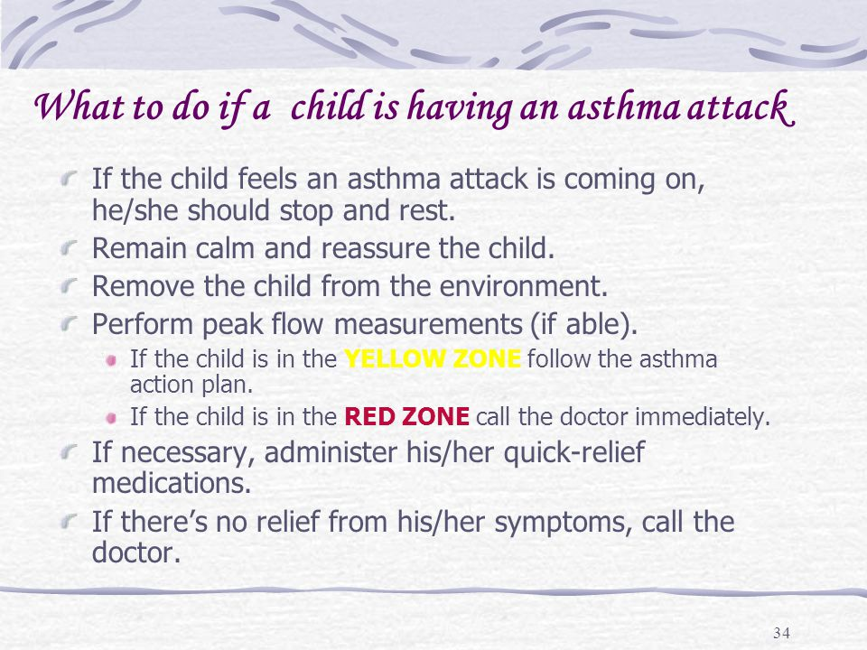 What to do if a child is having an asthma attack