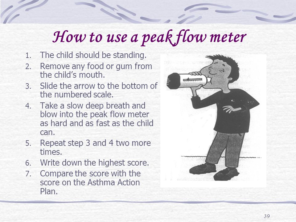 How to use a peak flow meter