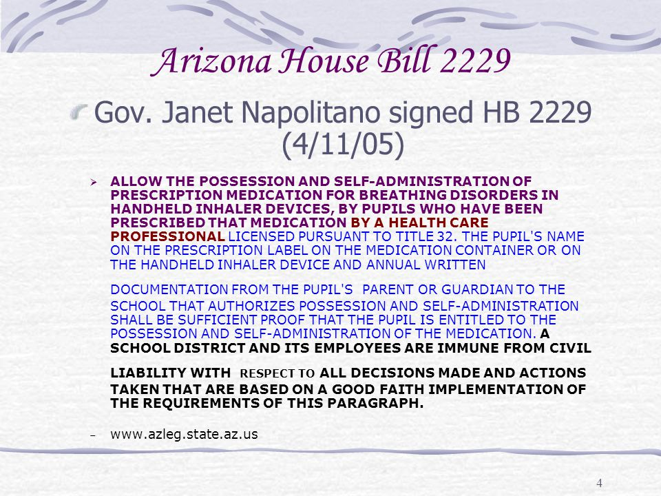 Gov. Janet Napolitano signed HB 2229 (4/11/05)