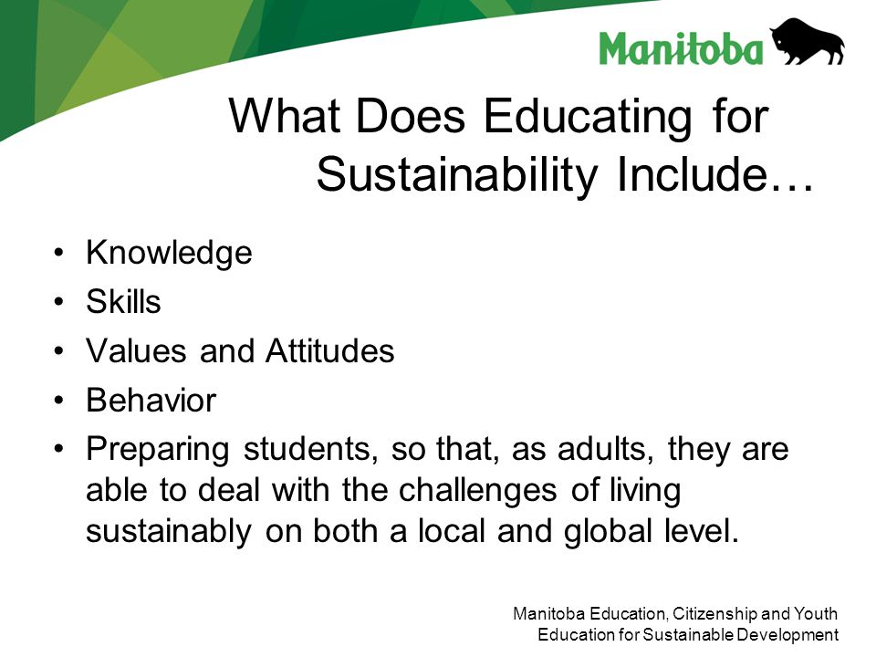 What Does Educating for Sustainability Include…