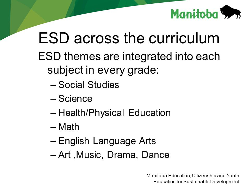 ESD across the curriculum
