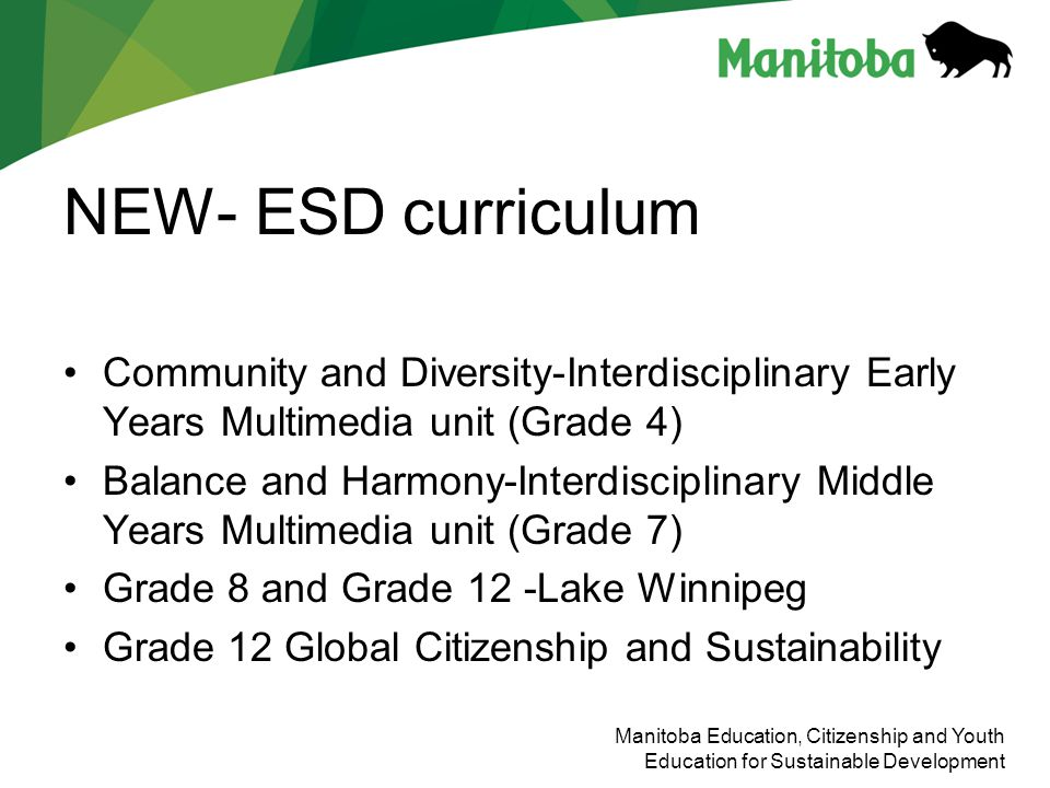 NEW- ESD curriculum Community and Diversity-Interdisciplinary Early Years Multimedia unit (Grade 4)
