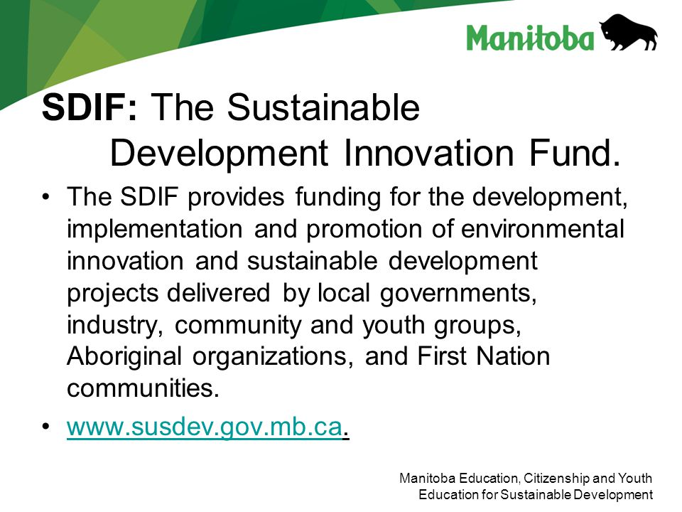 SDIF: The Sustainable Development Innovation Fund.