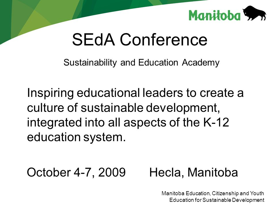 SEdA Conference Sustainability and Education Academy