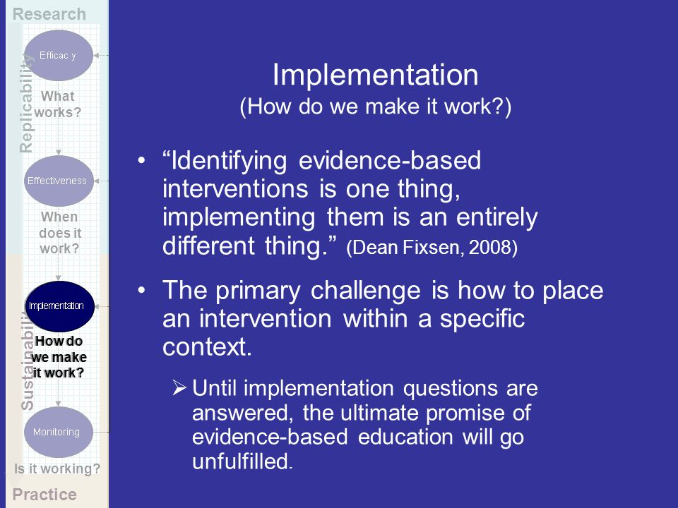 Implementation (How do we make it work )
