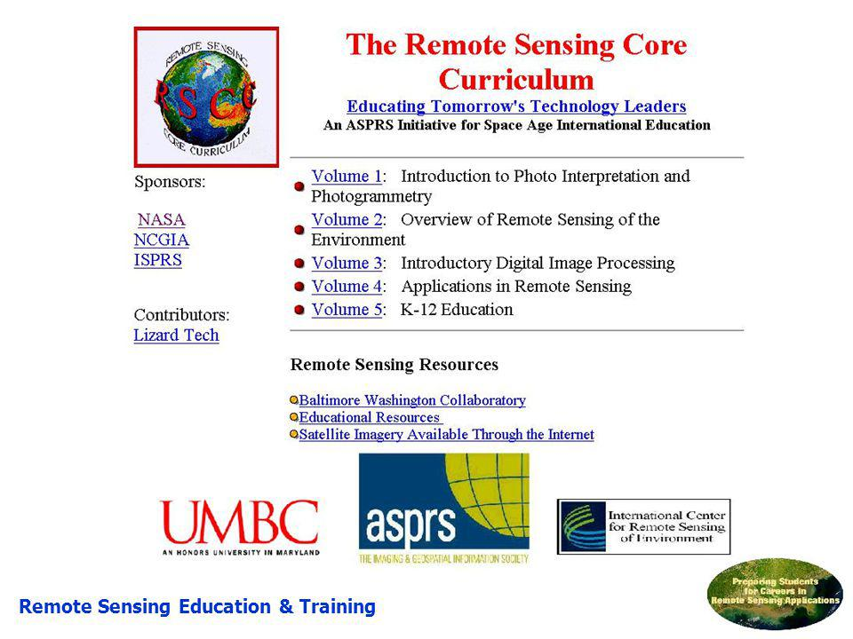 RSCC Remote Sensing Education & Training