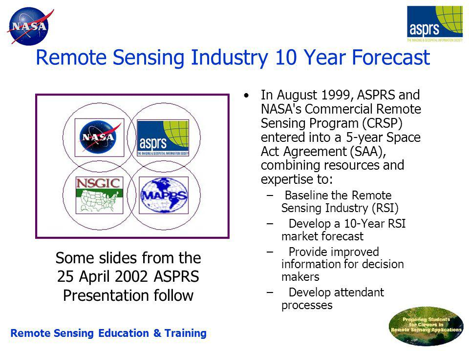 Remote Sensing Industry 10 Year Forecast