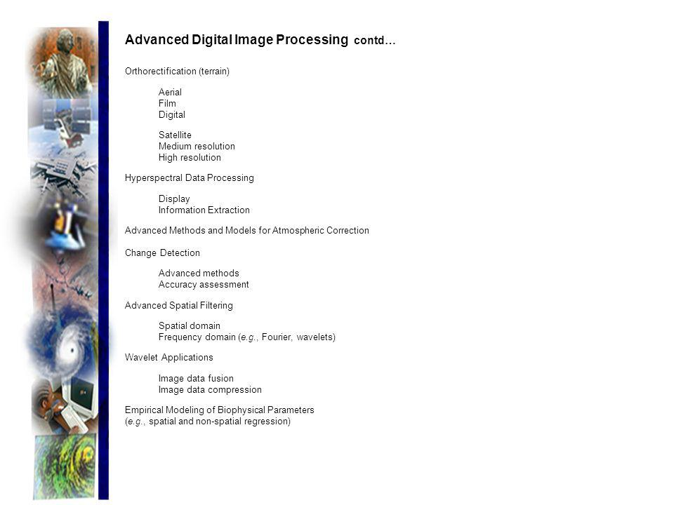 Advanced Digital Image Processing contd…