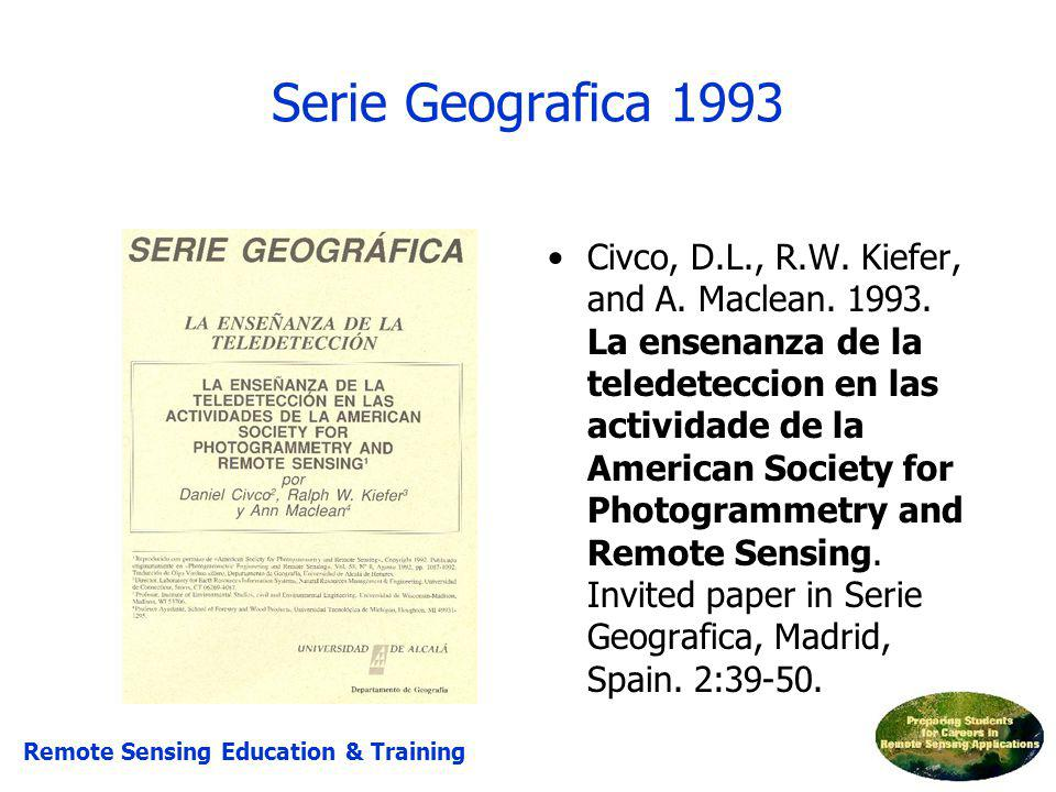 Serie Geografica 1993