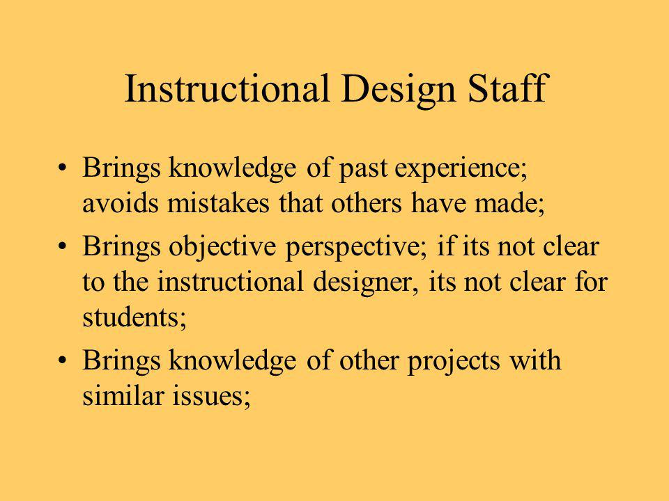 Instructional Design Staff