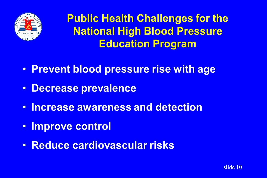 Public Health Challenges for the National High Blood Pressure Education Program