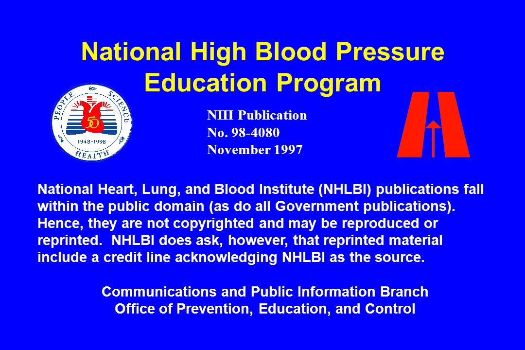 National High Blood Pressure Education Program