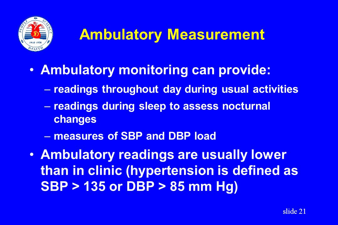 Ambulatory Measurement