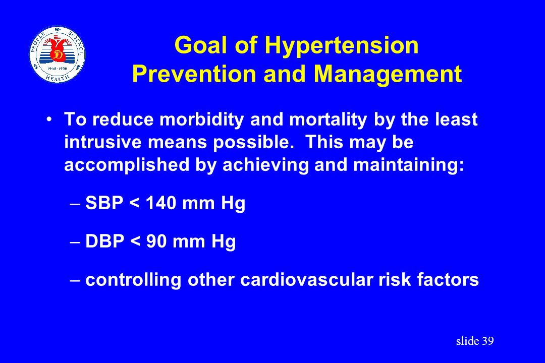 Goal of Hypertension Prevention and Management