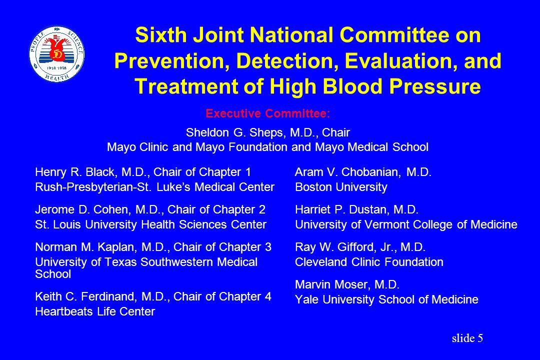 Sixth Joint National Committee on Prevention, Detection, Evaluation, and Treatment of High Blood Pressure