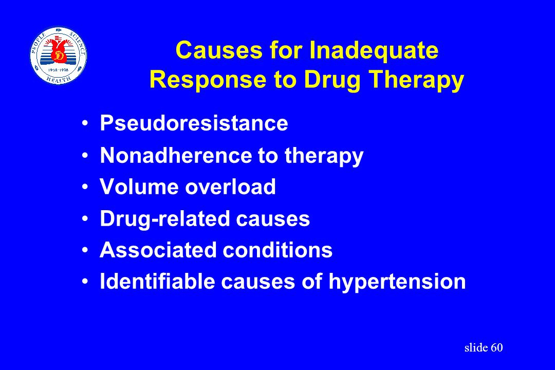 Causes for Inadequate Response to Drug Therapy