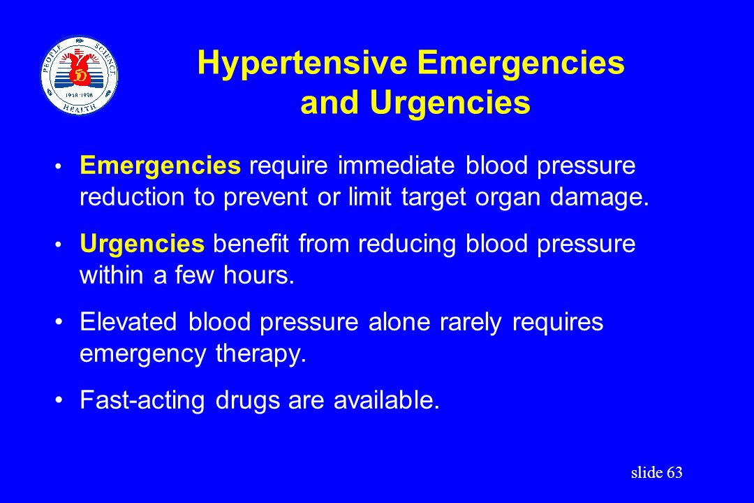 Hypertensive Emergencies and Urgencies