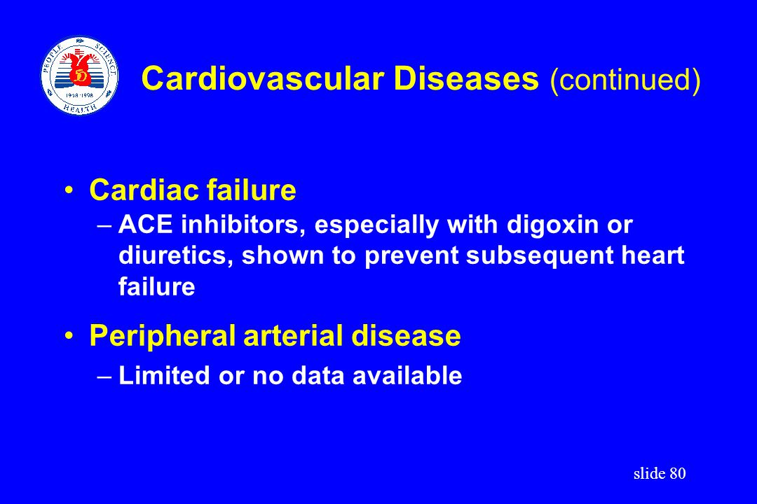 Cardiovascular Diseases (continued)