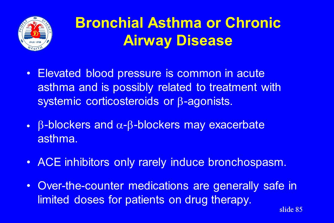 Bronchial Asthma or Chronic Airway Disease