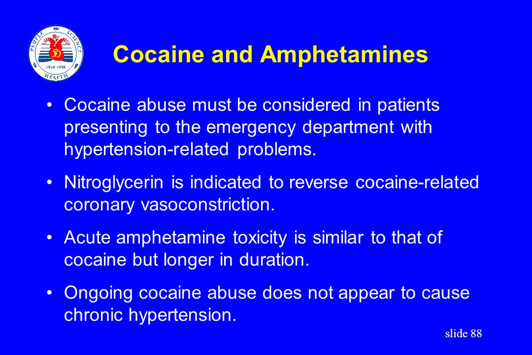Cocaine and Amphetamines