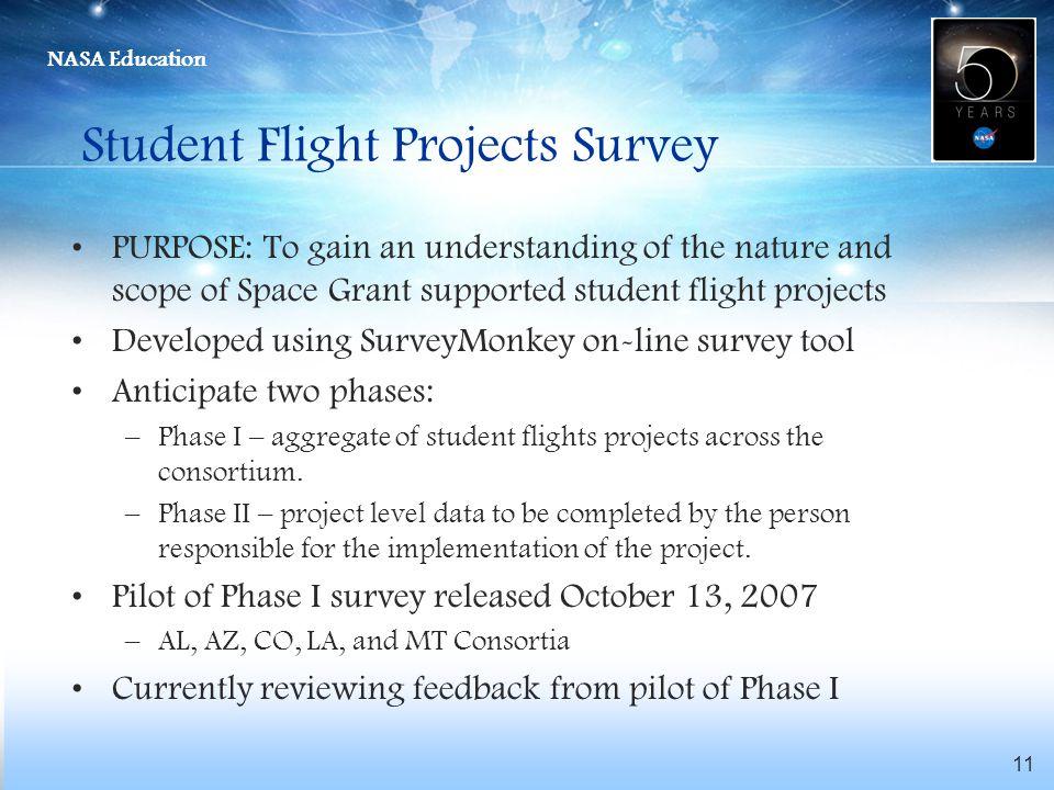 Student Flight Projects Survey