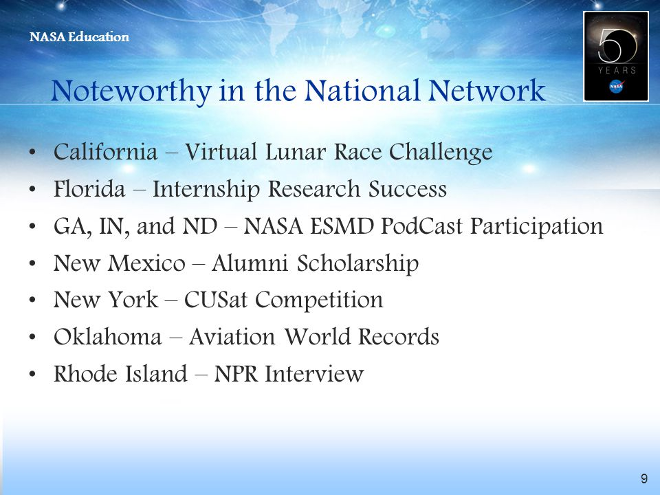 Noteworthy in the National Network