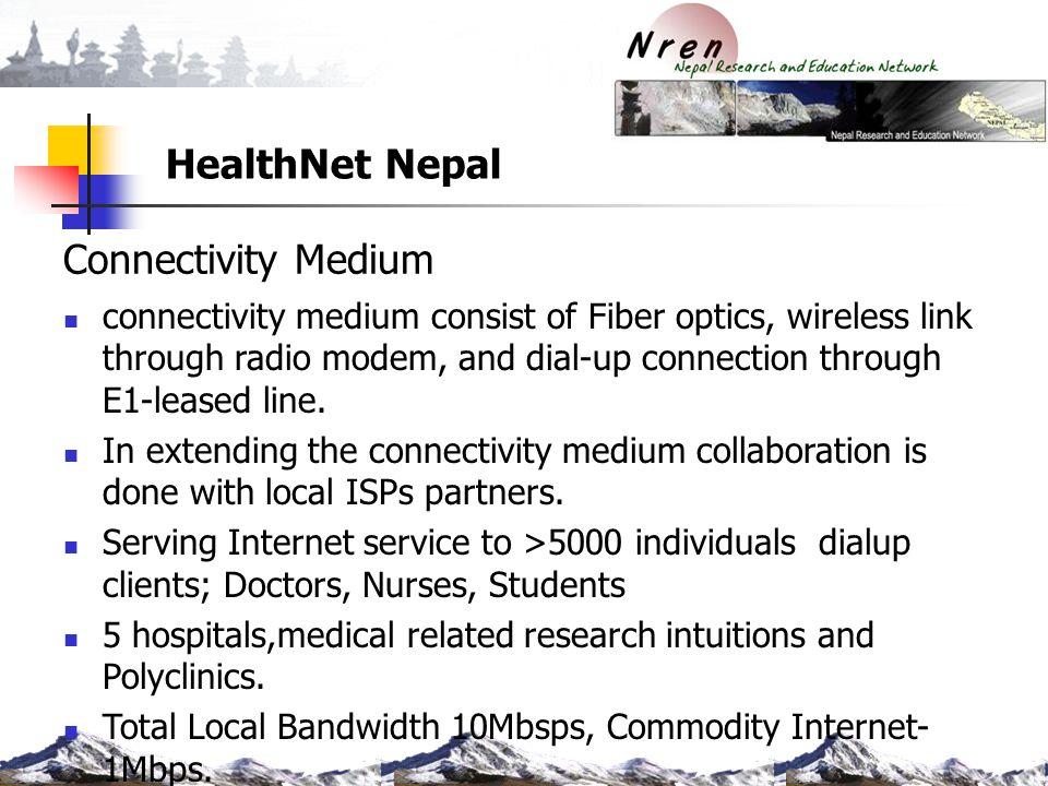 HealthNet Nepal Connectivity Medium