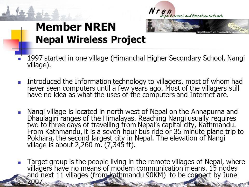 Member NREN Nepal Wireless Project