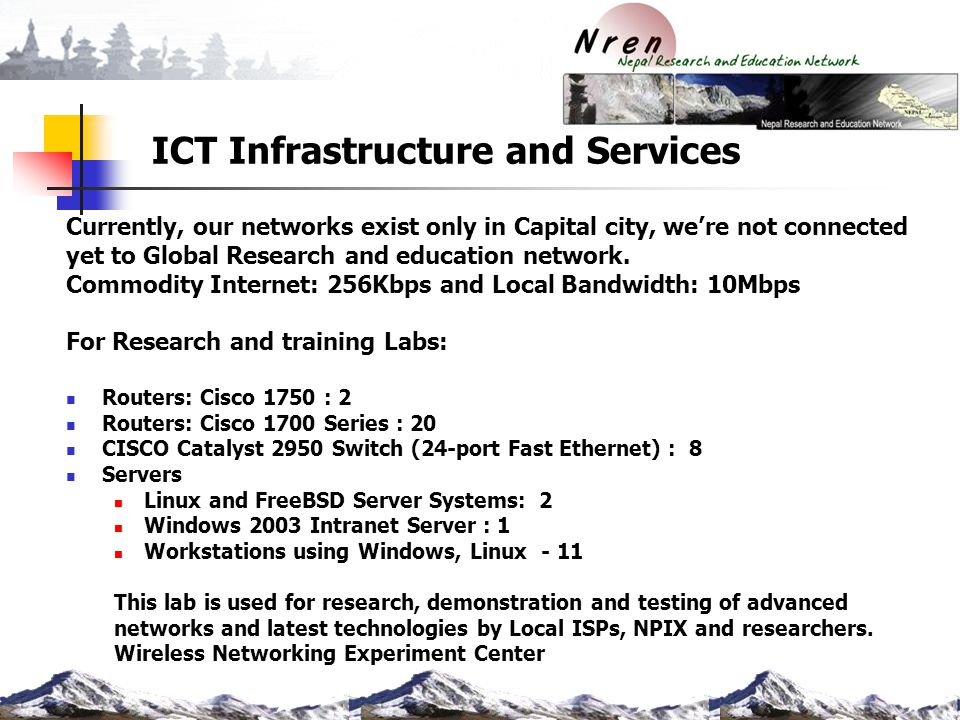 ICT Infrastructure and Services