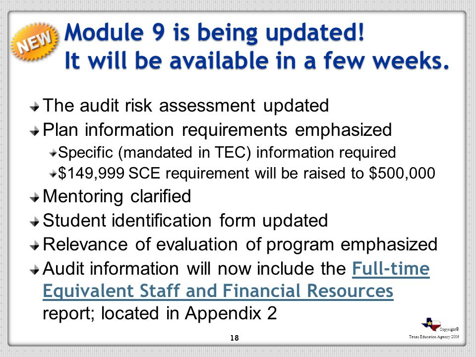 Module 9 is being updated! It will be available in a few weeks.