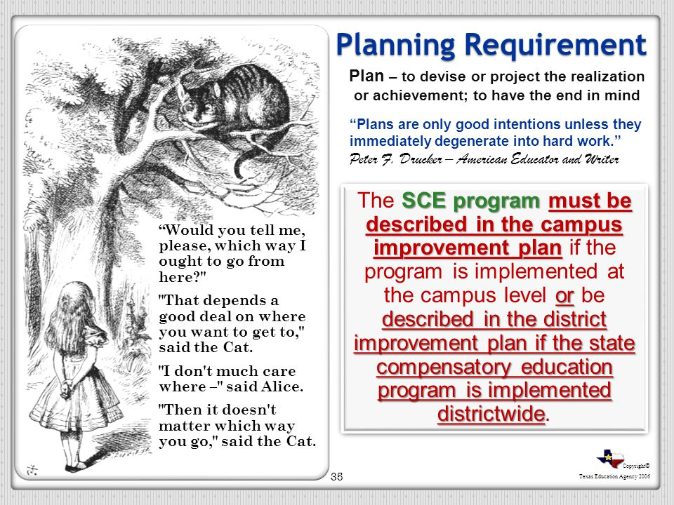 Planning Requirement Plan – to devise or project the realization or achievement; to have the end in mind.