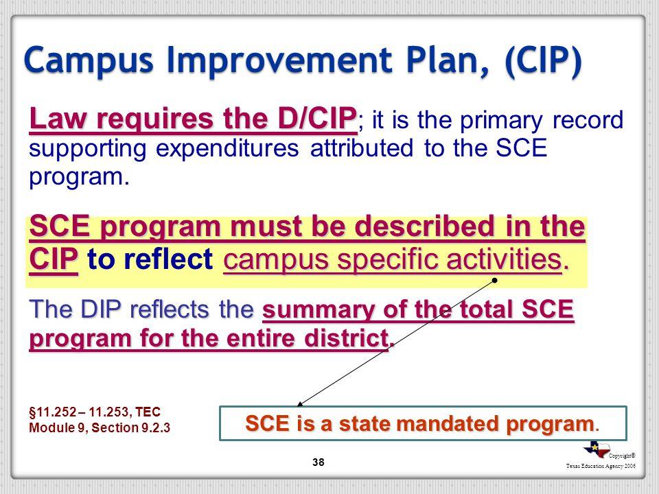 Campus Improvement Plan, (CIP)