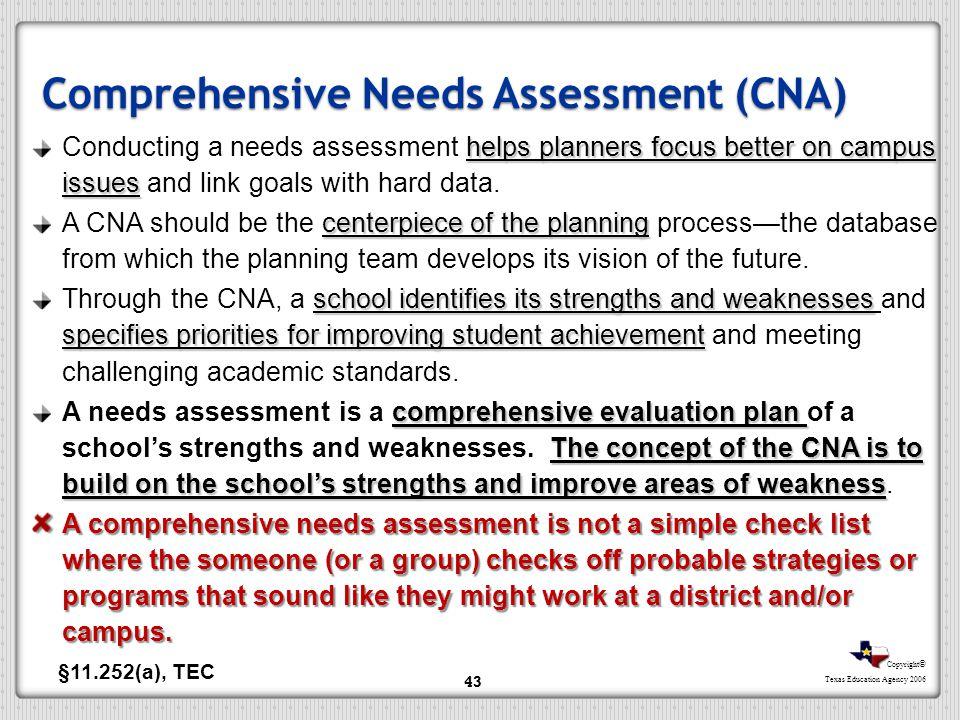 Comprehensive Needs Assessment (CNA)