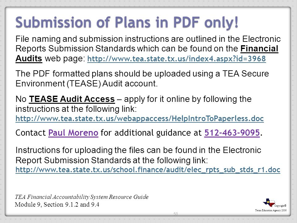 Submission of Plans in PDF only!