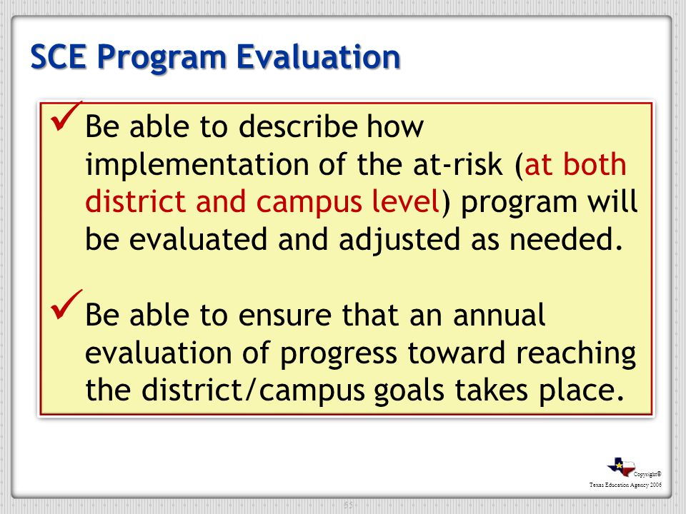SCE Program Evaluation