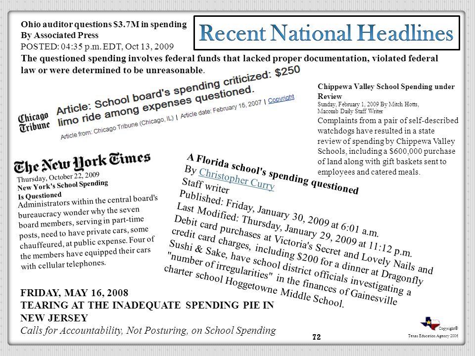 Recent National Headlines