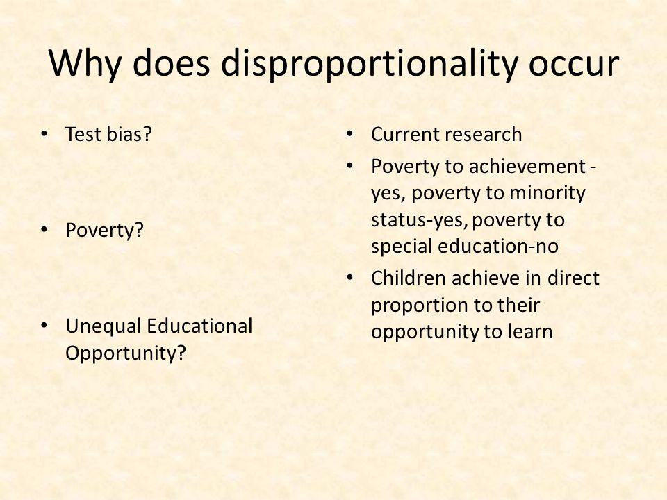 Why does disproportionality occur