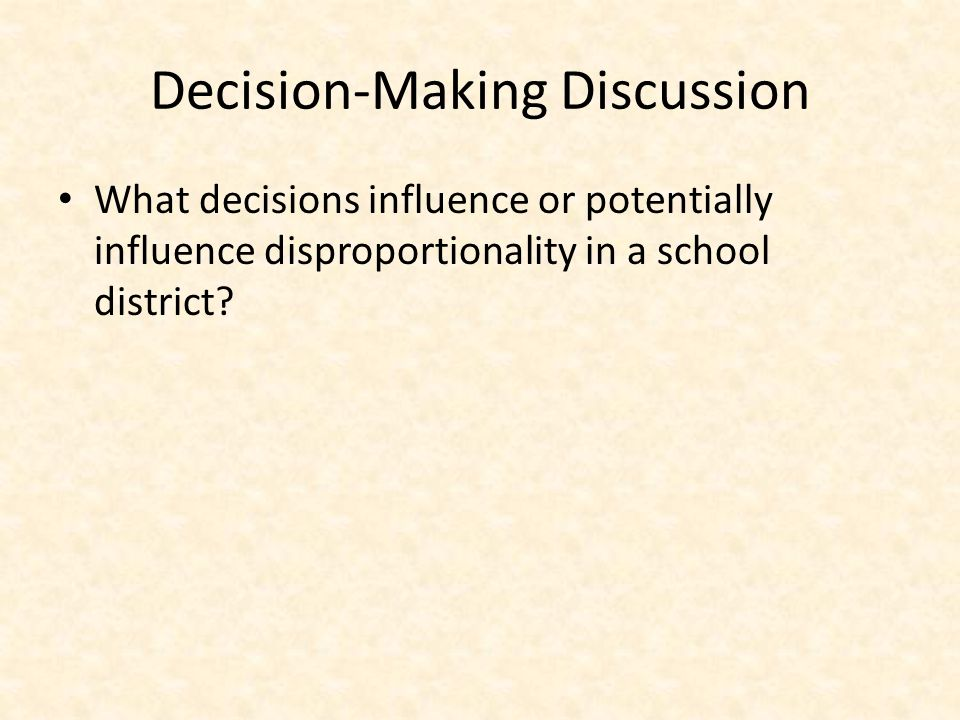 Decision-Making Discussion