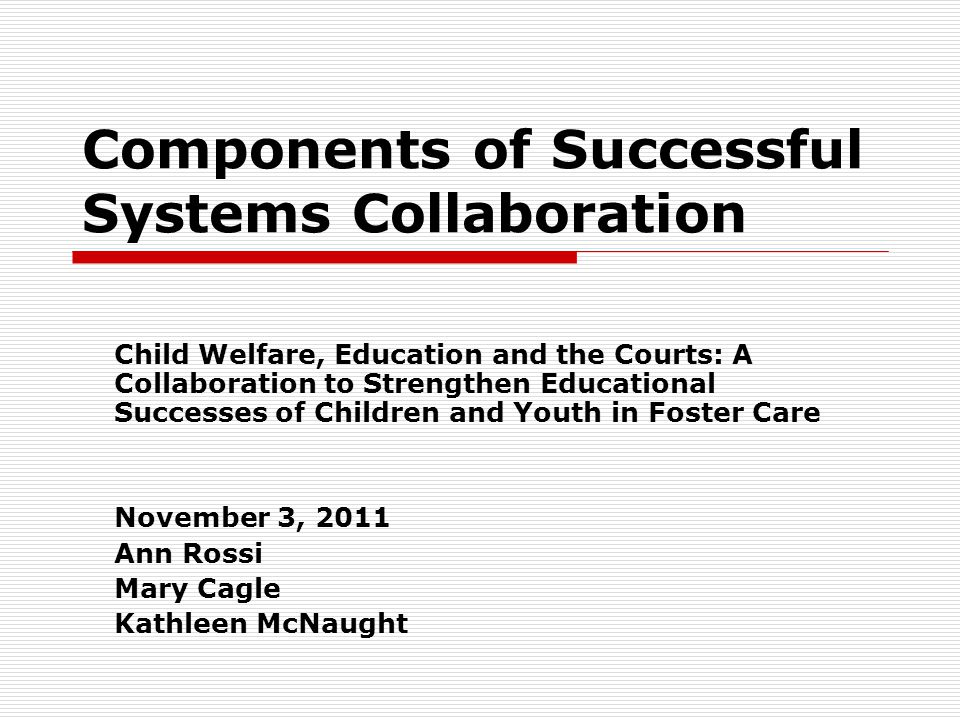 Components of Successful Systems Collaboration