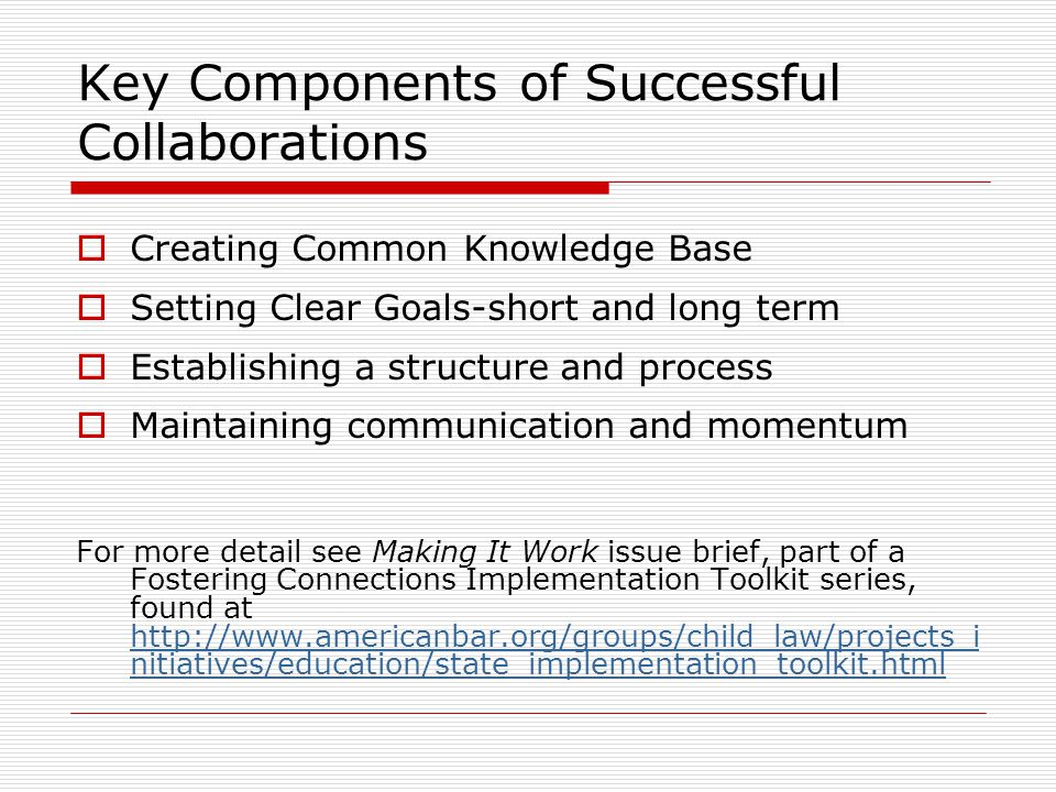 Key Components of Successful Collaborations