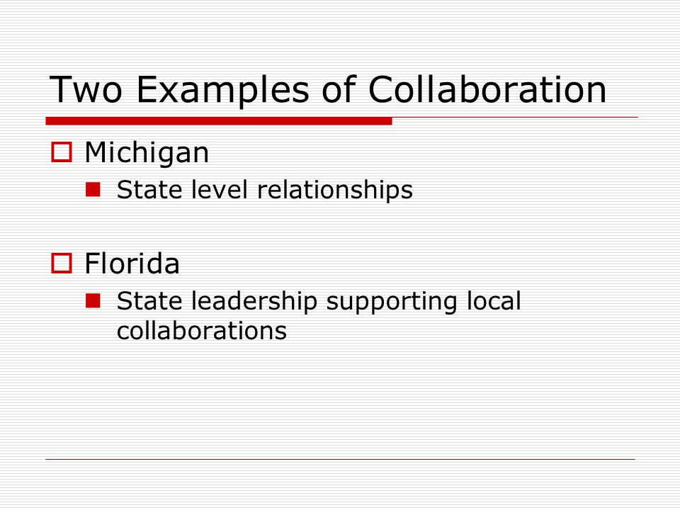 Two Examples of Collaboration